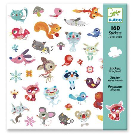 djeco, sticker, animals, little friends