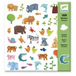 djeco, stickers, animals