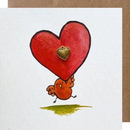 kaart, sidedish, hart