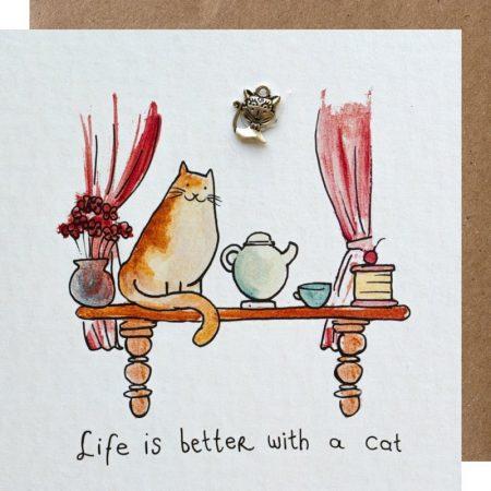 kaart, cat, sidedish