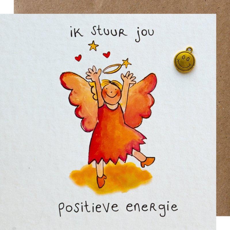 kaart, positieve energie, sidedish