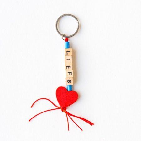 sleutelhanger, sidedish, liefs, hartje