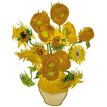 Flatflowers, zonnebloemen, van Gogh, raamstickers