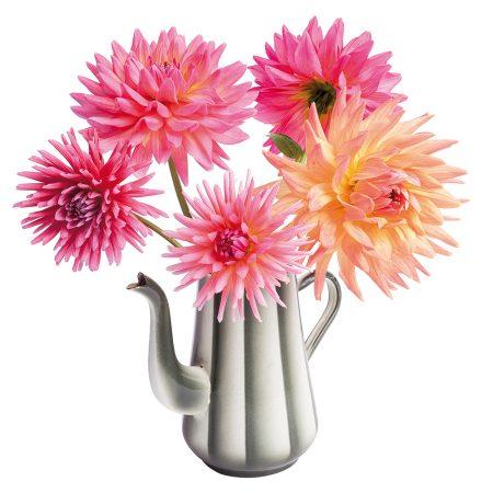 flatflowers, dahlia, retro, raamstickers
