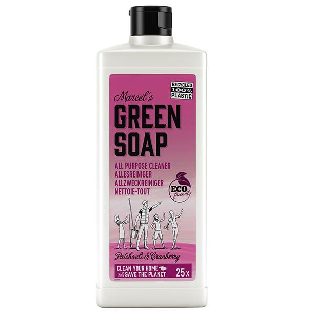 marcels green soap, allesreiniger, patchouli, cranberry, eco