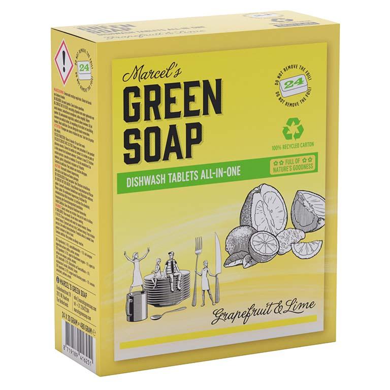 vaatwastabletten, afwas, afwasmachine, groene zeep, grapefruit, limoen, duurzaam