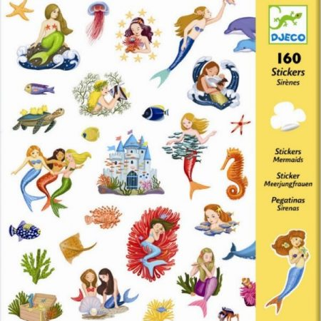 djeco, stickers, mermaids, zeemeermin