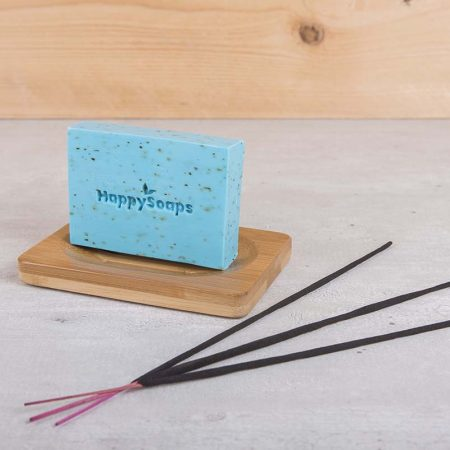 happy soaps, body bar, bergamot, wierook, plasticvrij