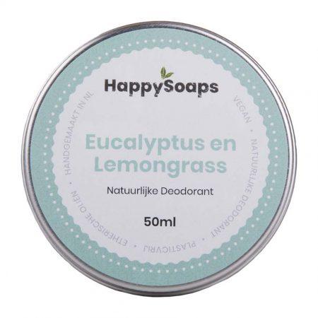 happysoaps, natuurlijke deo. deodorant, duurzaam, plasticvrij, eucalyptus, lemongrass