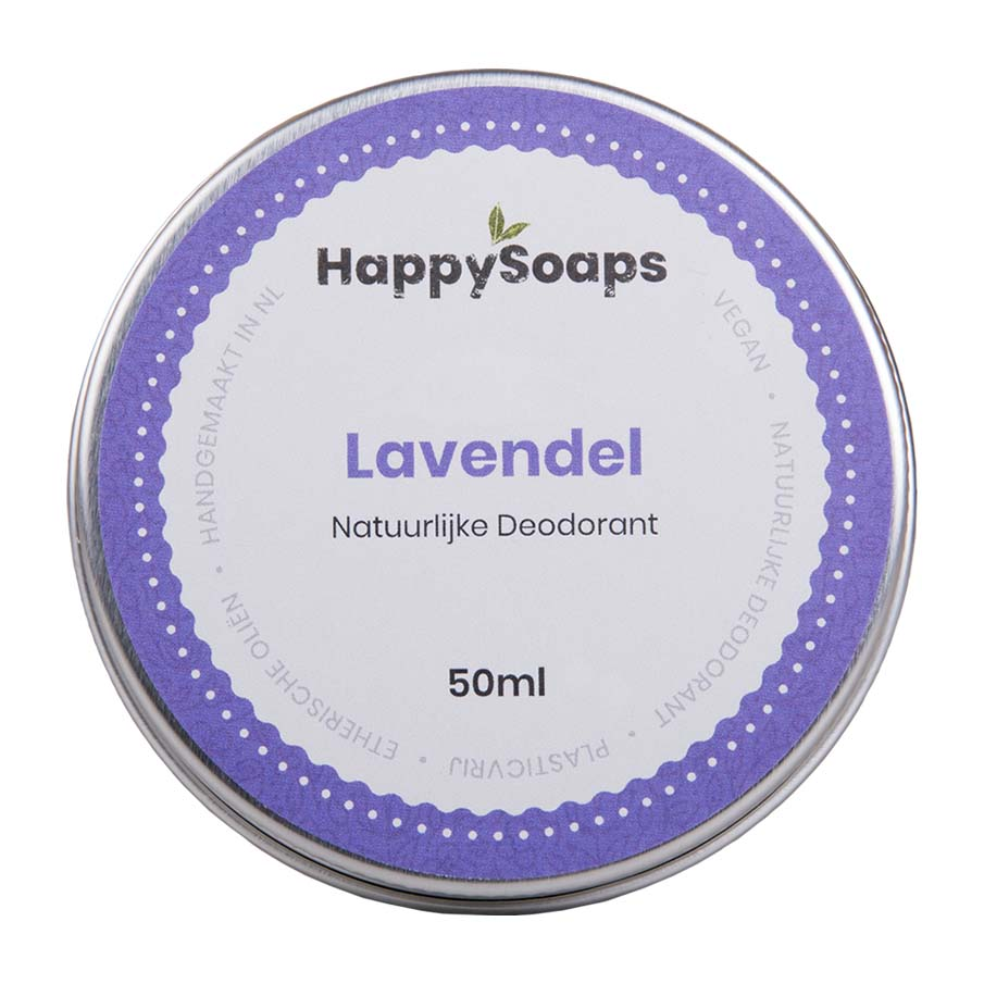 happysoaps, natuurlijke deo, deodorant, blikje, lavendel, duurzaam, plasticvrij
