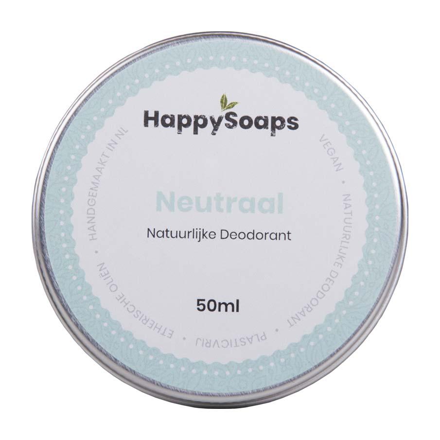 happysoaps, natuurlijke deo, deodorant, neutraal, blikje, duurzaam, plasticvrij