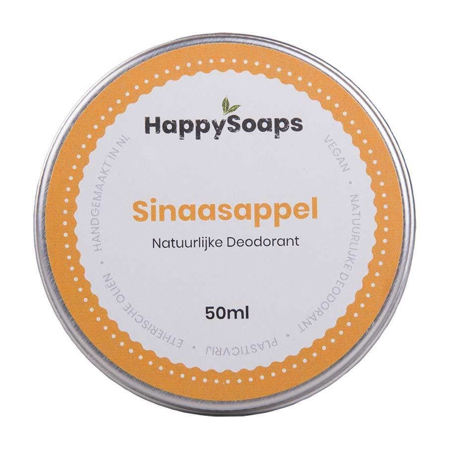 happysoaps, natuurlijke deo, deodorant, sinaasappel, blikje, duurzaam, plasticvrij