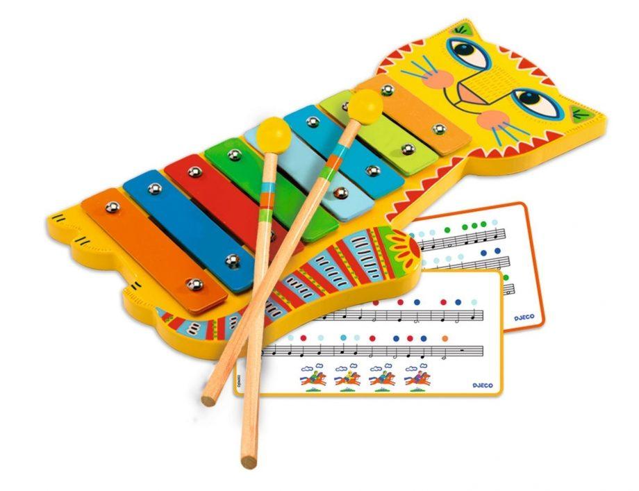 djeco, xylofoon, kat, muziekinstrument, animambo, speelgoed
