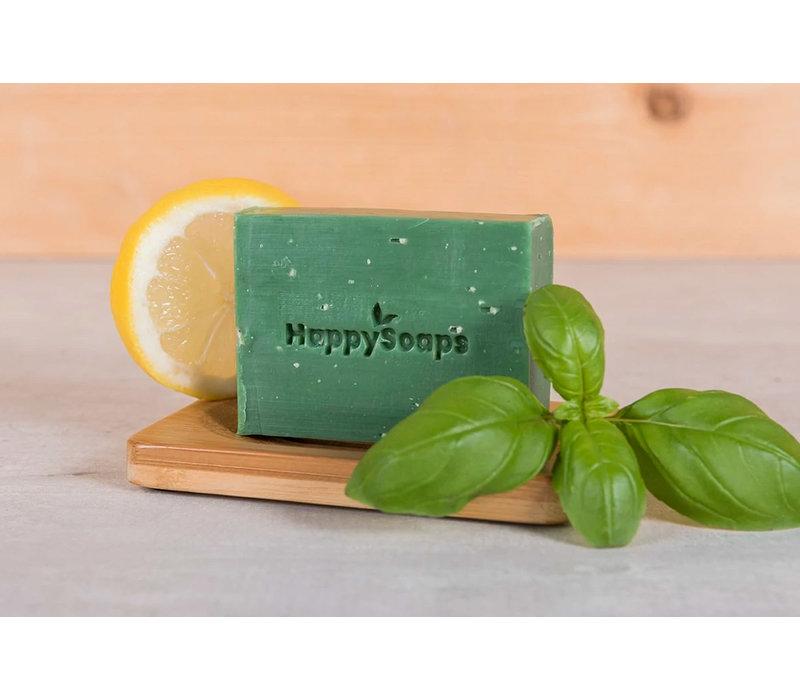 happysoaps, body bar, citroen, basilicum