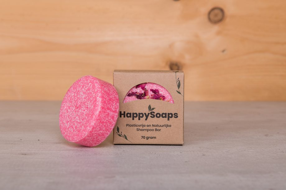 happy soaps, shampoo bar, rozen, la vie en rose, plasticvrij