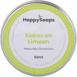 happysoaps, natuurlijke deo, deodorant, kokos, limoen, blikje, duurzaam, plasticvrij