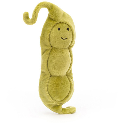 jellycat, vivacious vegetables, peas, doperwtjes, knuffel