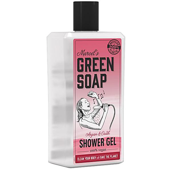 douchegel, marcels green soap, argan, oudh, vegan