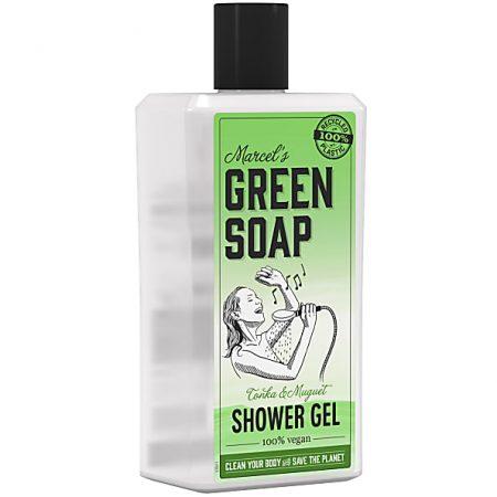 marcels green soap, douchegel, showergel, tonka, muguet, lelietjes van dalen, vegan