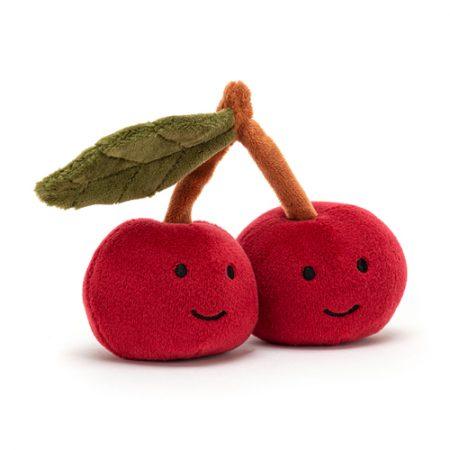jellycat, cherry, kersjes, knuffel