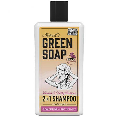 marcels green soap, shampoo, 2-in-1, vanille, kersenbloesem, vegan