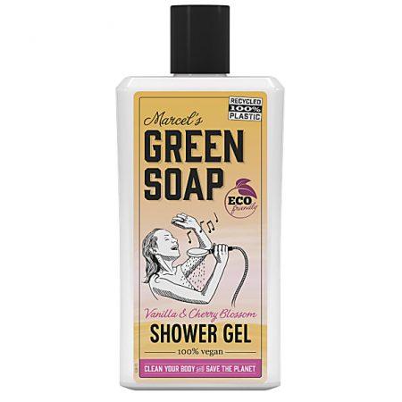 marcels green soap, douchegel, showergel, vanille, kersenbloesem, vegan