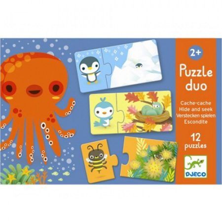 djeco, puzzel,duo, hide and seek, verstoppertje