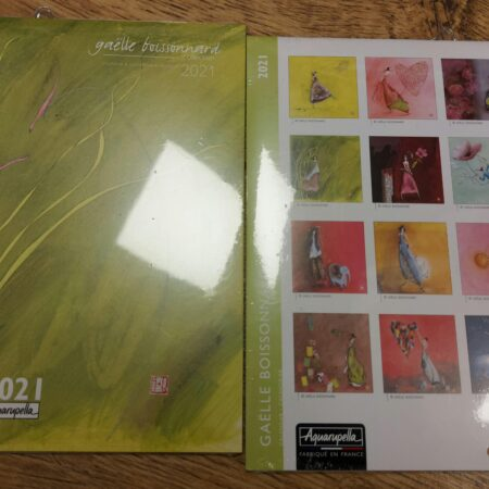 kalender, gaelle boissonnard, groen, klein, 2021