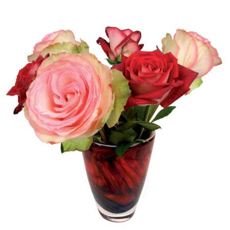 Flat Flowers, kaart, rozen, roze