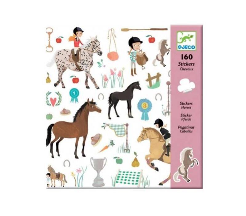 djeco, stickers, paarden, horses