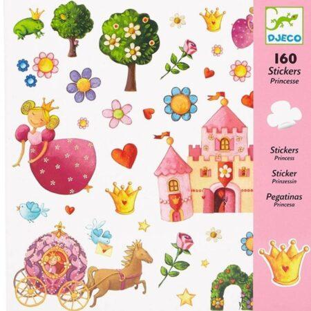 djeco, stickers, princess, prinsessen