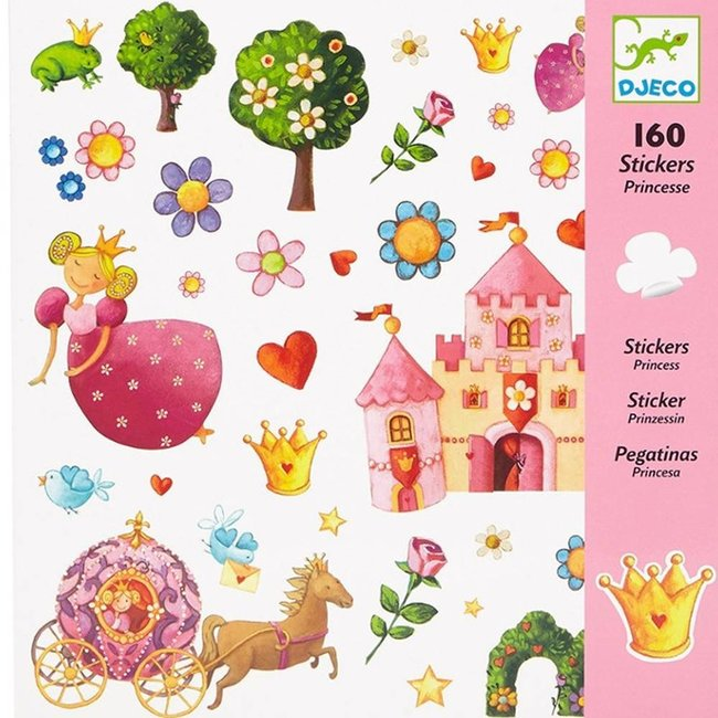 djeco, stickers, princess, prinsessen