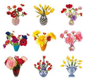 Flat Flowers klein