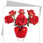 flat flowers, kaart, hart, rozen