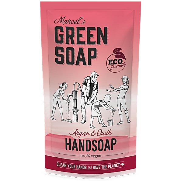 marcels green soap, refill, argan, oudh, 500ml
