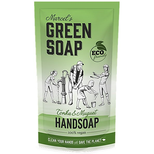 marcels green soap, refill, navulling, tonka, muguet, stazak, 500ml