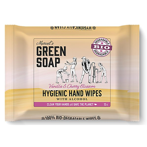 marcels green soap, handwipes, doekjes, hygienisch, alcohol