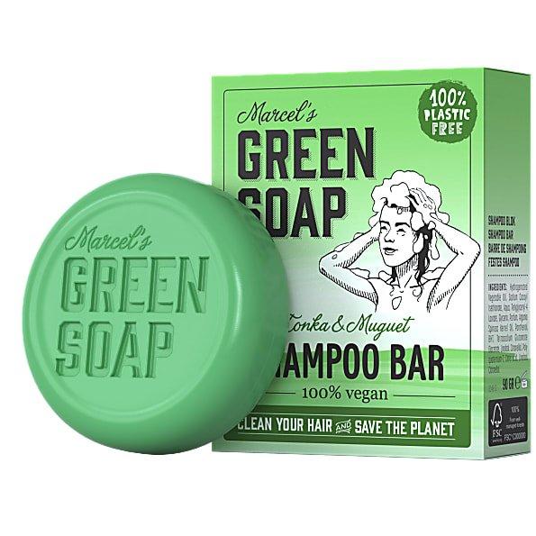 marcels green soap, shampoobar, tonka, muguet, lelietjes van dalen