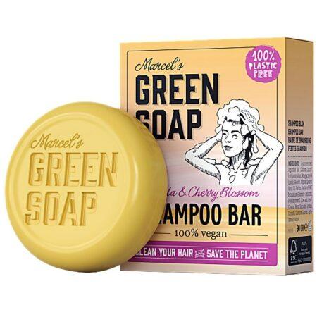 marcels green soap, shampoobar, vanille, kersenbloesem