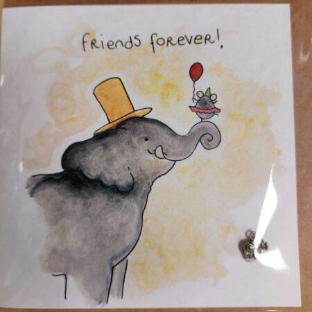 sidedish, kaart, friends forever