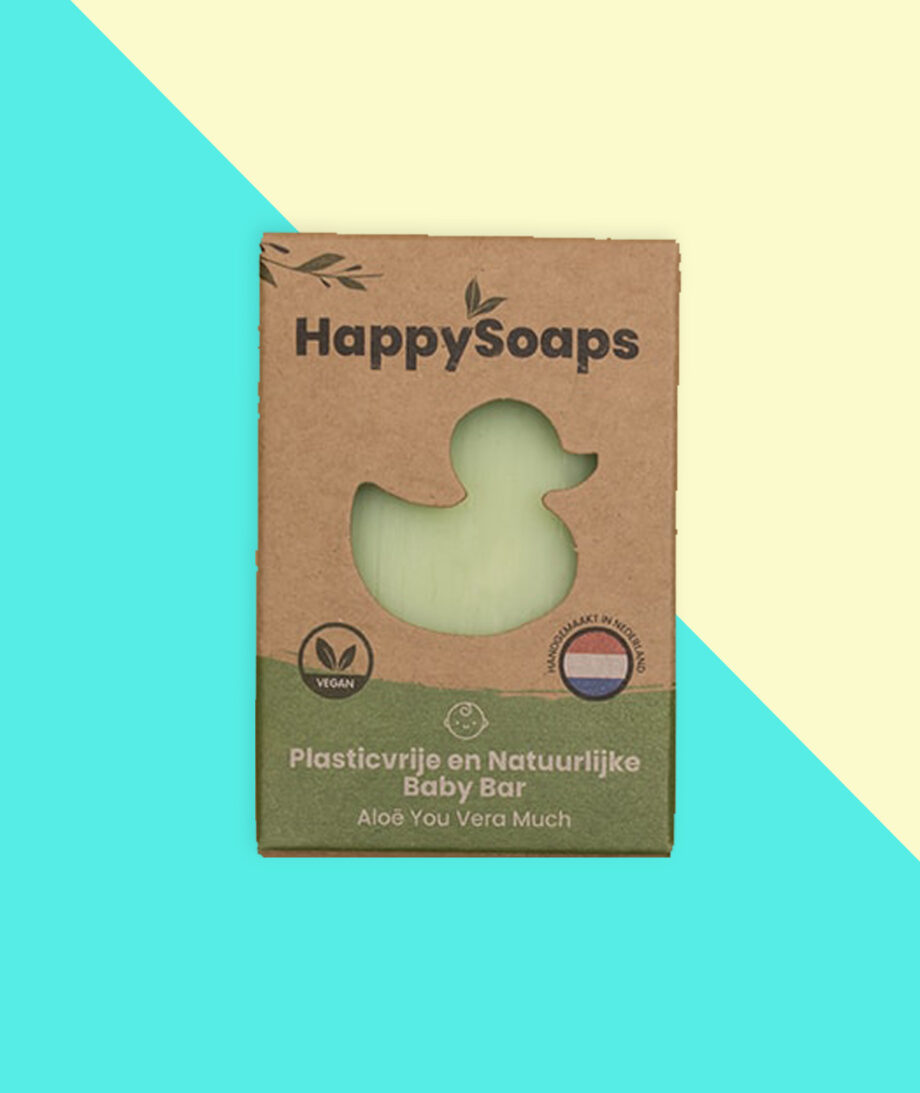happy soaps, baby, shampoo, body, aloe vera, plasticvrij