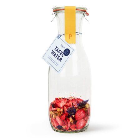 pineut, tafelwater, aardbei, jasmijn, korenbloem