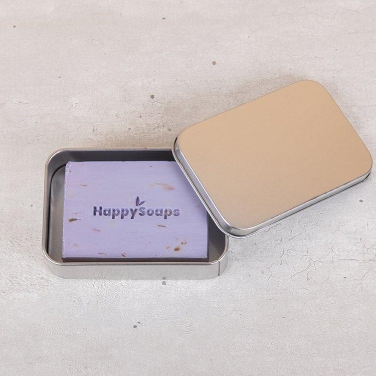 happy soaps, blikje, bodybar